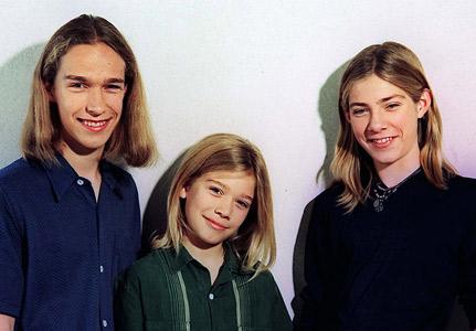 Isaac, Zac ja Taylor Hanson 1990-luvulla.