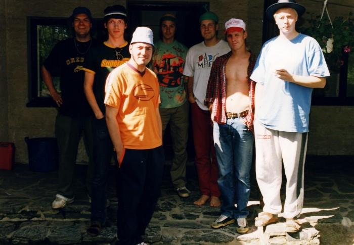 Egotrippi Alter ego -levyn äänityssessioissa vuonna 1998. Kuva: Lasse Kurki.